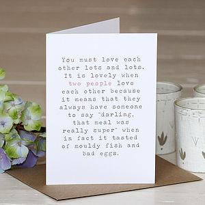 'Two People' Greetings Card - wedding cards & wrap