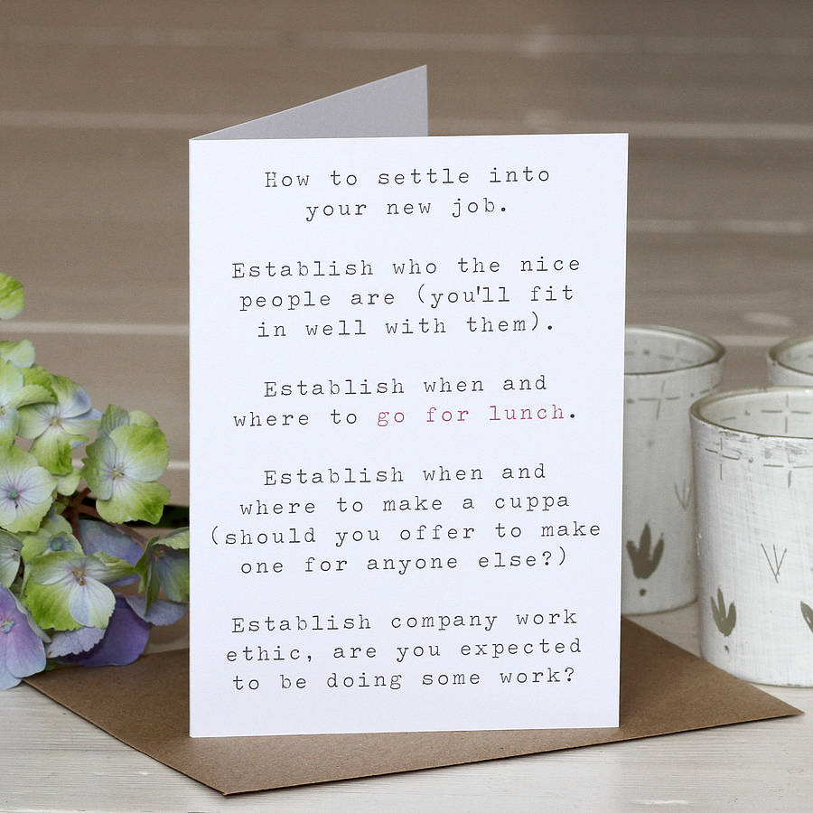 New Job Greetings Card By Slice Of Pie Designs Notonthehighstreet