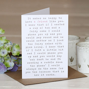 'A Friend Like You' Greetings Card