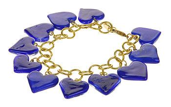 Glass Heart Bracelet Various