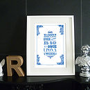 'Alice In Wonderland' Print