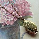 Family Tree Photo Locket Necklace