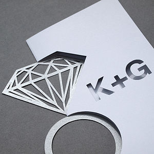 Personalised Cut Diamond Ring Card - as seen in the press