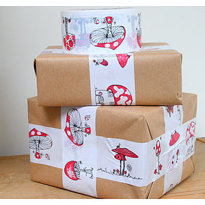Toadstool Sticky Tape - ribbon & wrap