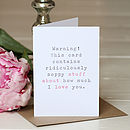 'Stuff About Love' Wedding Day Card