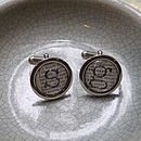 Personalised Initial Literary Cufflinks