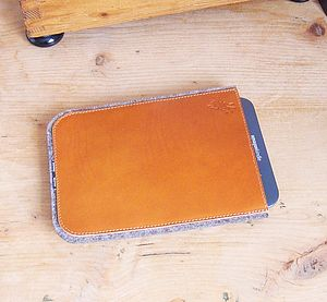 Personalised Leather And Felt Case For Kindle