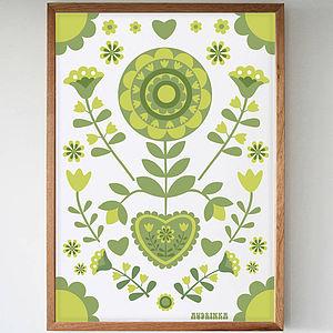 Retro Heart Art Giclée Print