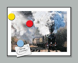 Steam Train Metal Memo Board