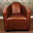 Carlton Rocket Vintage Leather Tub Chair