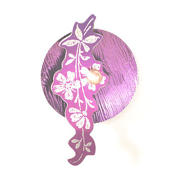 Flower Sprig Pin Brooch
