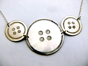 Button It Metal Necklace