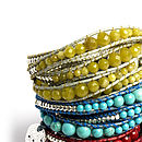 Semi Precious Stone Five Wrap Tower Bracelet