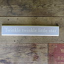 Twinkle Twinkle Little Star Plaque