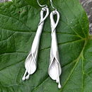Handmade Silver Lily Earrings