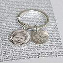 Personalised Silver Photo Key Ring