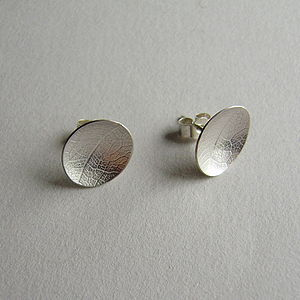 Silver Leaf Stud Earrings - into the woods