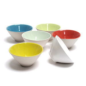 Set Of Conical Dip Bowls