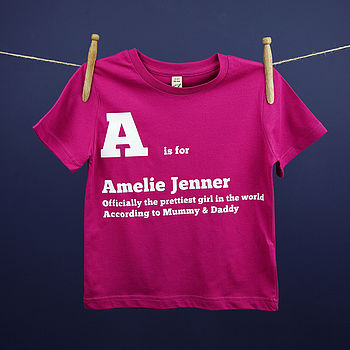 Child's Personalised 'Is For' T Shirt