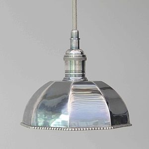 Octagonal Chrome Pendant Light