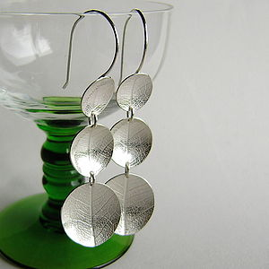 Oval Dish Large Leaf Earrings
