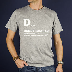 Men's Personalised 'Is For' T Shirt - gifts for fathers