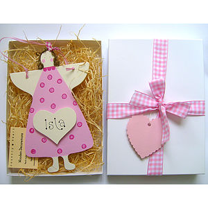 Personalised Angel Gift Box - message tokens
