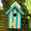 Personalised Beach Hut Bird House