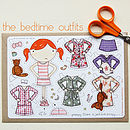 Clara Paper Doll The Bedtime Outfits