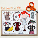Clara Paper Doll Winter Outfits
