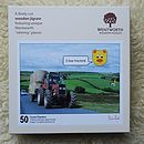 Tractor Wooden Jigsaw With Whimsy Pieces