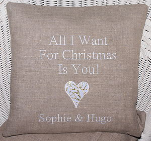 'All I want for Christmas…' Cushion
