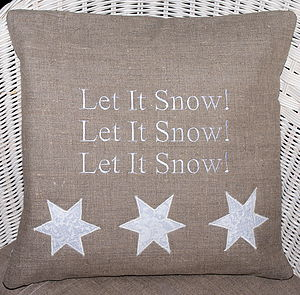 'Let it Snow!' Cushion