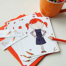 Set Of Six Clara Notecards