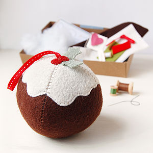 Make Your Own Christmas Pudding Craft Kit - christmas decorations