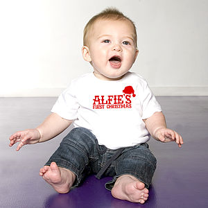 My First Christmas Personalised T Shirt - baby's first Christmas