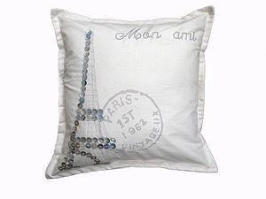 Paris Pearl Eiffel Tower Cushion