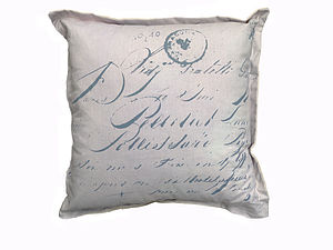 French Stamped Love Notes Cushion