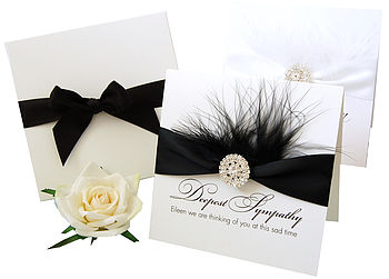 Feather Luxury Sympathy Card Boxed