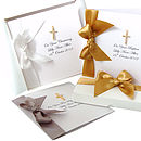 Luxury Christening Card with diamante dangley cross