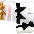 Gold Diamante Cross Sympathy Card