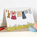 Little Girl's Washing Line Card