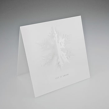 3D Snowflake Christmas card
