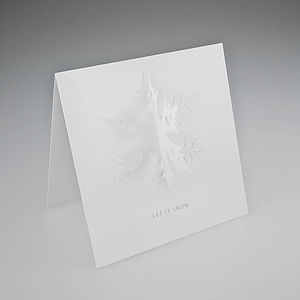 3D Snowflake Christmas Card - shop by category