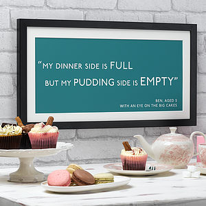 Personalised Quotation Print - gifts for him