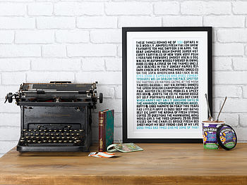 Personalised Remind Me Of You Print