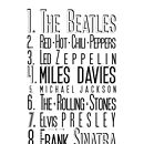 Personalised 'Top 10 List' Print