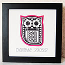 Personalised Owl Print