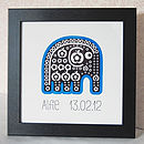 Personalised Elephant Print