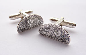 Scratch Segment Cufflinks - men's accessories